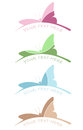 Butterfly colorful logo with inscription. Vector illustration