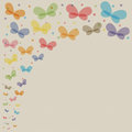 Butterfly colorful watercolor butterflies on canvas background Stock Images