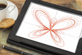 Butterfly curve on a digital tablet Stock Image