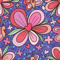 Butterfly desire flower love heart seamless pattern Royalty Free Stock Photo