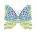 butterfly embroidery artwork design for fashion wearing, graphic