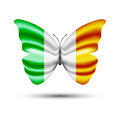 Butterfly flag ireland Royalty Free Stock Photo