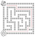 Butterfly and flower Maze educational game for children