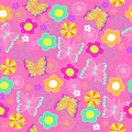 Butterfly and Flowers Seamless Repeat Pattern Stock Photos