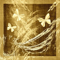Butterfly Grunge Canvas Fabric Royalty Free Stock Image