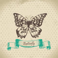 Butterfly. Hand drawn illustration Royalty Free Stock Photos