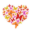 Butterfly heart Royalty Free Stock Photos