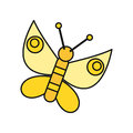 Butterfly Icon in Flat Royalty Free Stock Photo