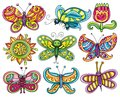 Butterfly icon set. Stock Photography