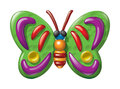 Butterfly illustration plasticine figurines vector of in a childrens style Royalty Free Stock Image