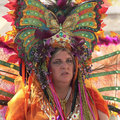 A Butterfly Lady at the Arizona Renaissance Festival Royalty Free Stock Photo
