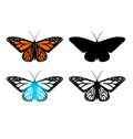 Butterfly for logo design and artwork Stock Photo