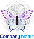 Butterfly logo illustration art of a with isolated background Stock Photos