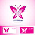 Butterfly logo for spa and beauty