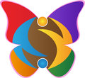 Butterfly logo a vector drawing represents design Stock Photos