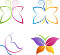Butterfly logos a vector drawing represents design Stock Images