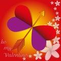 Butterfly love flower valentine