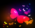 Butterfly neon light background design easy editable Stock Photo