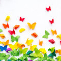 Butterfly Paper Cut on White Background Royalty Free Stock Photo