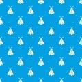 Butterfly pattern vector seamless blue