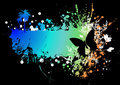 Butterfly rainbow subtle Royalty Free Stock Photo