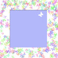 Butterfly scrapbook frame Royalty Free Stock Photo