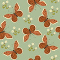 Butterfly seamless pattern colorful with on a blue background Royalty Free Stock Images