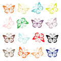 Butterfly set for your design Royalty Free Stock Photo