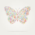 Butterfly shape music color Royalty Free Stock Photo