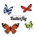Butterfly silhouettes design Royalty Free Stock Photo