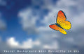 Butterfly in sky Royalty Free Stock Photo