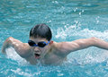 Butterfly swimmer Stock Images