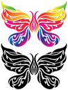Butterfly Tattoo Royalty Free Stock Photo