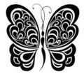 Butterfly. Tattoo design. Royalty Free Stock Photography
