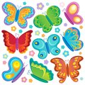 Butterfly theme collection Stock Photos