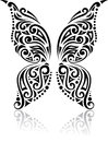 Butterfly tribal pattern Royalty Free Stock Photo