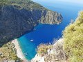 Butterfly valley deep gorge fethiye turkey high view canyon Stock Photography