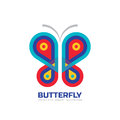 Butterfly vector logo template. Beauty salon - sign creative illustration. Abstract icon. Design element