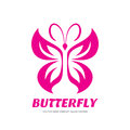 Butterfly vector sign - logo template concept illustration in graphic style design. Decorative art