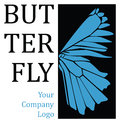 Butterfly wing logo Stock Photography
