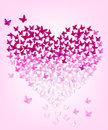 Butterflys in the form of heart eps Stock Photography
