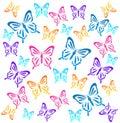 Butterflys vector illustration on white Stock Images