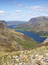 Buttermere lake district cumbria mountain view Royalty Free Stock Photo