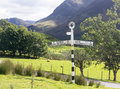 Buttermere sign in english lake district Royalty Free Stock Photo