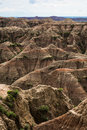 Buttes in badlands national park sd and plnnacles south dakota Stock Photo