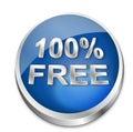 Button 100% Free Royalty Free Stock Photo