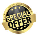 Button with Banner Special Offer Royalty Free Stock Photo