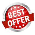 Button - best offer Royalty Free Stock Photo