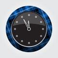 Button blue, black tartan - last minute clock icon Royalty Free Stock Photo
