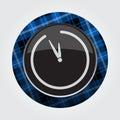 Button, blue, black tartan - last minute clock Royalty Free Stock Photo